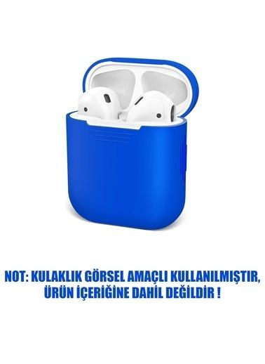 Microsonic Apple AirPods 1. Nesil / 2. Nesil Mat Silikon Kılıf Mavi Mavi